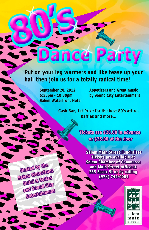80s Dance Party Fundraiser Salem Main Streets