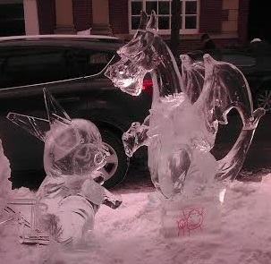 Ice Pikachu & Charizard